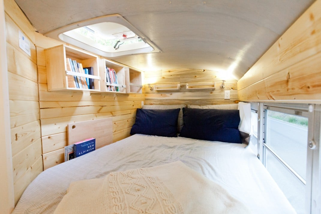 chambre bus aménagé