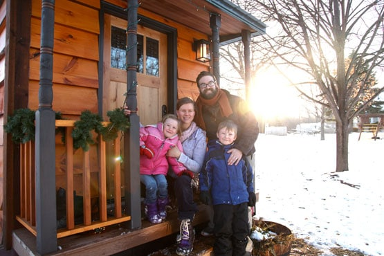 hiver tiny house en famille