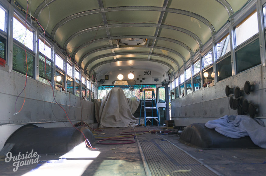 travaux bus amenage