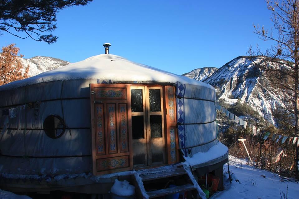 vivre en yourte en hiver