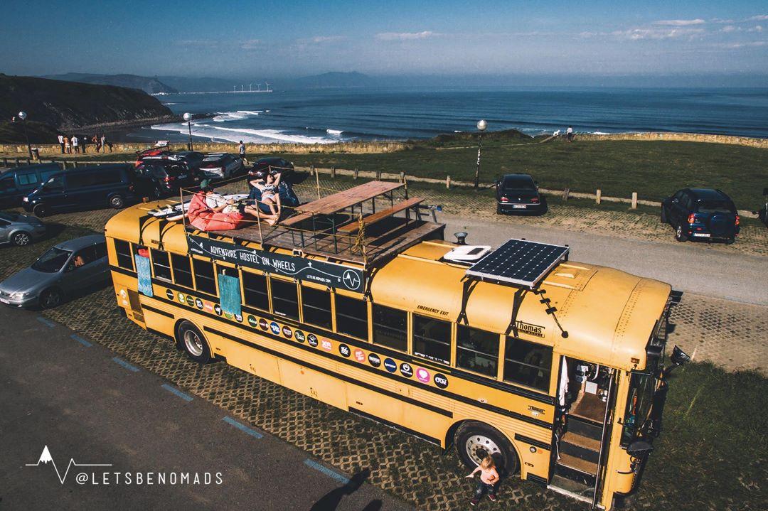 bus scolaire aménagé voyage