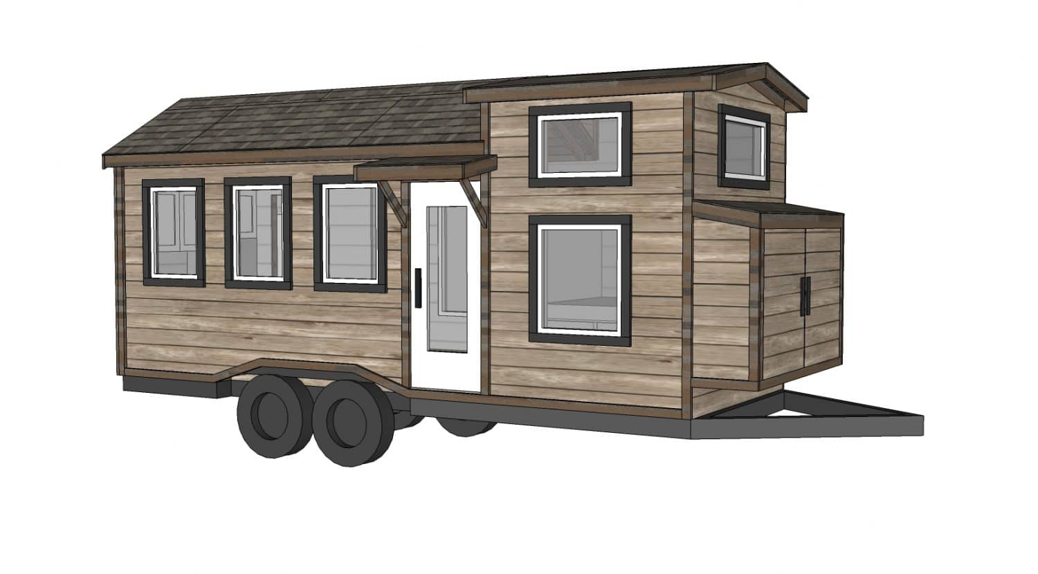 Construire sa propre tiny house plans gratuits et for Four lights tiny house plans