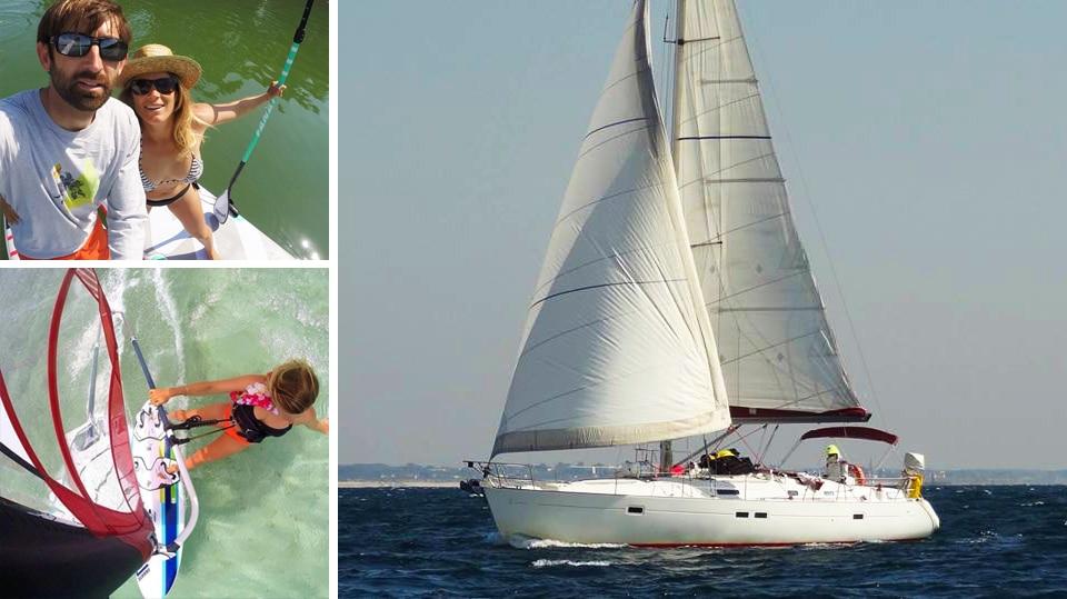 Ce couple vit en voilier et part faire le tour du monde avec un nouveau-né