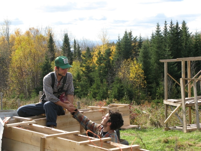 autoconstructions écologiques en bois