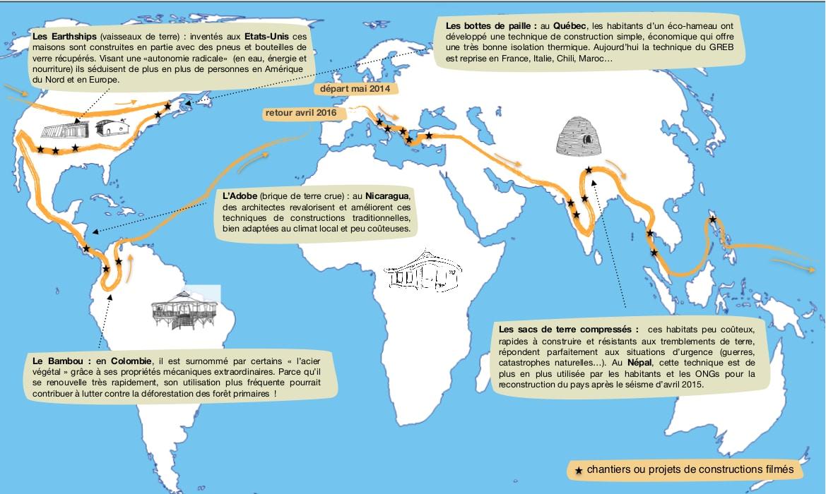 tour du monde habitations alternatives