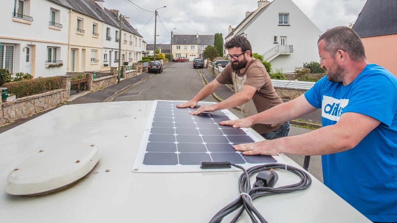 installation des panneaux solaires sur plusieurs batteries. Black Bedroom Furniture Sets. Home Design Ideas