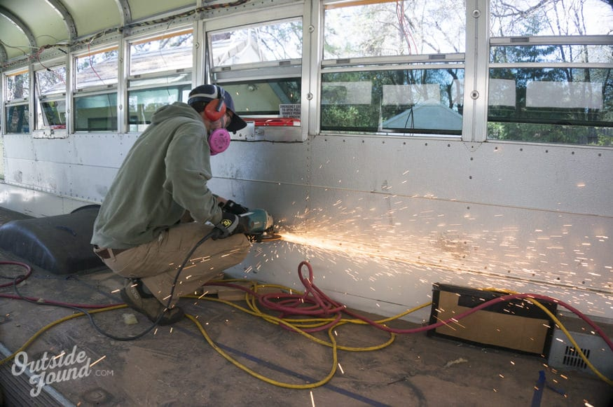 aménager un bus intérieur travaux
