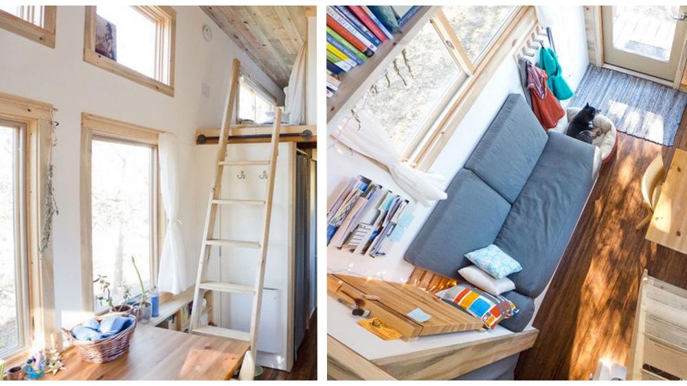 À quoi ressemble une Tiny House de moins de 20m² à l'intérieur ?