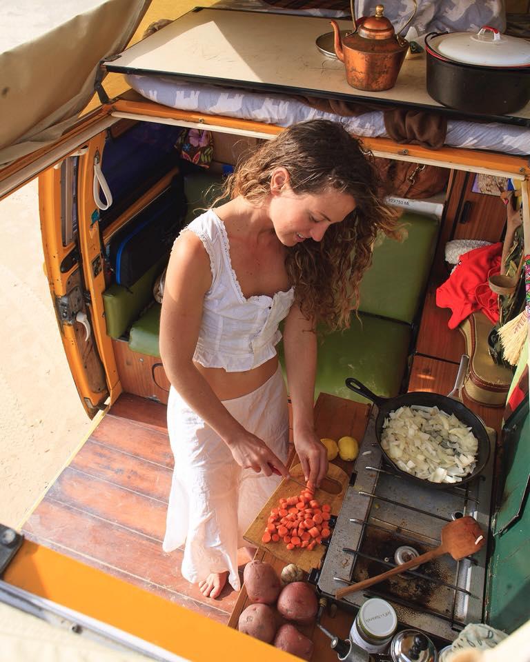 cuisine van VW aménagé