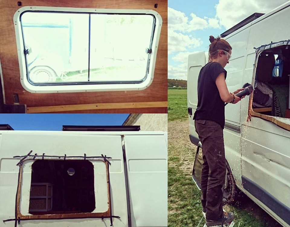 Percer une fen tre sur une camionnette am nag e tape for Histoire de la fenetre