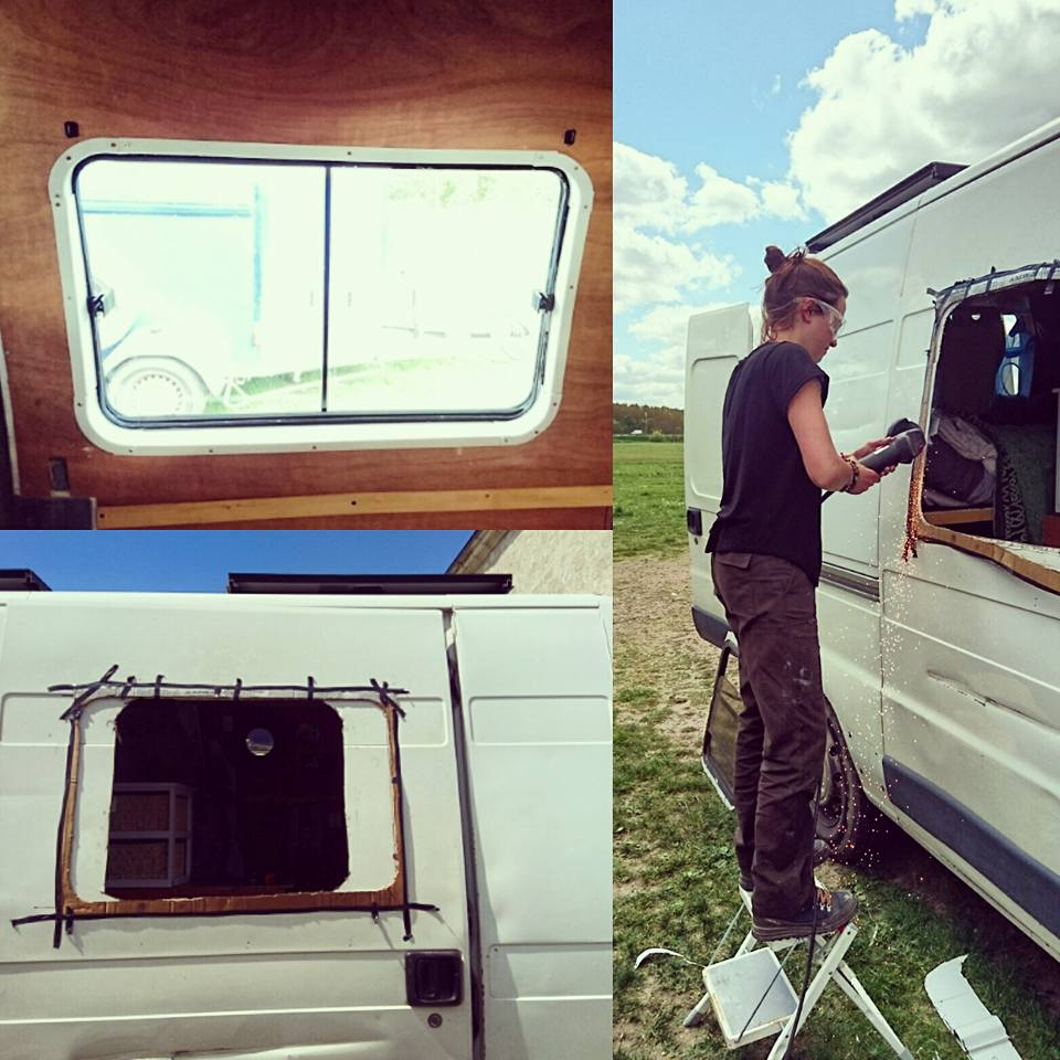 percer une fen tre sur une camionnette am nag e tape par tape. Black Bedroom Furniture Sets. Home Design Ideas
