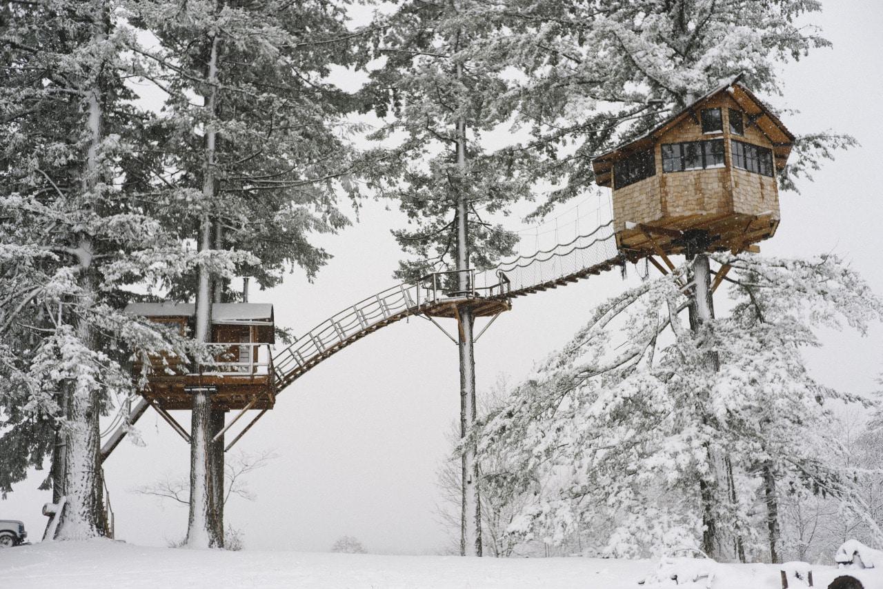 hiver vivre dans une cabane