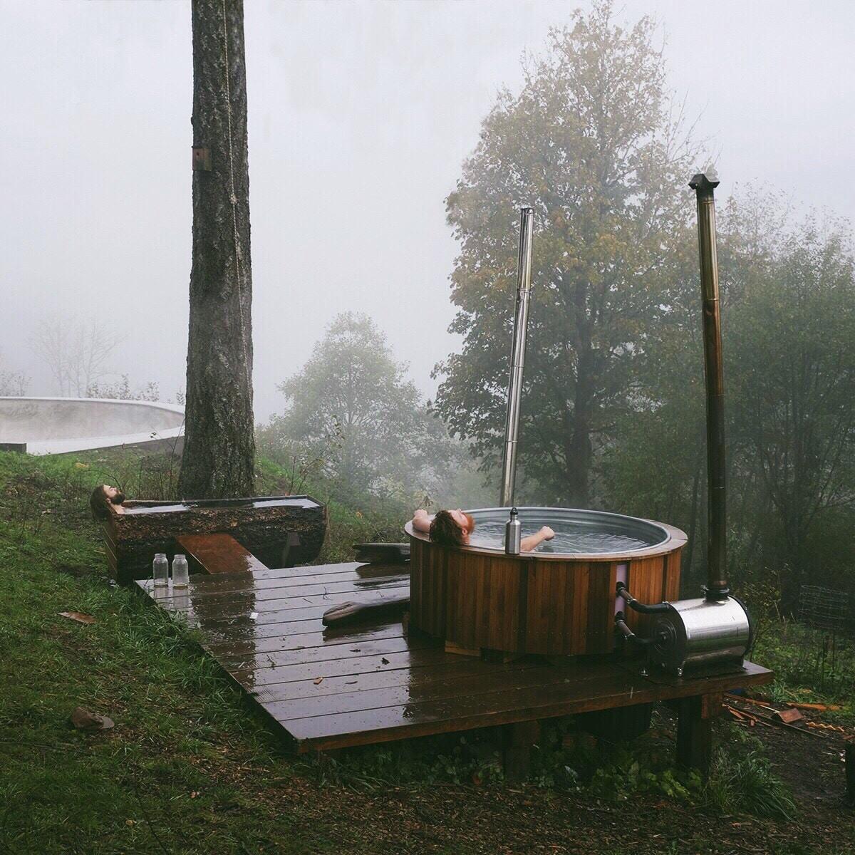 se doucher vivre dans une cabane