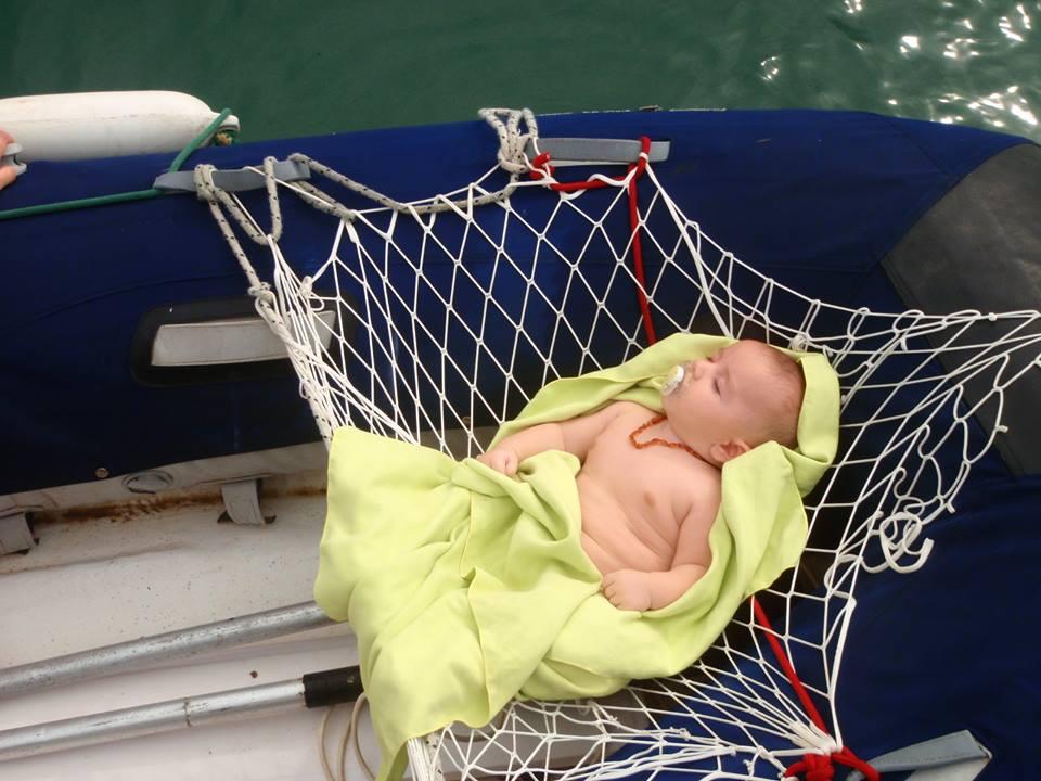 vivre avec un bebe sur un voilier