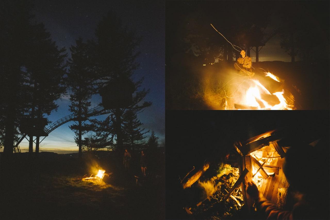 vivre dans une cabane en bois