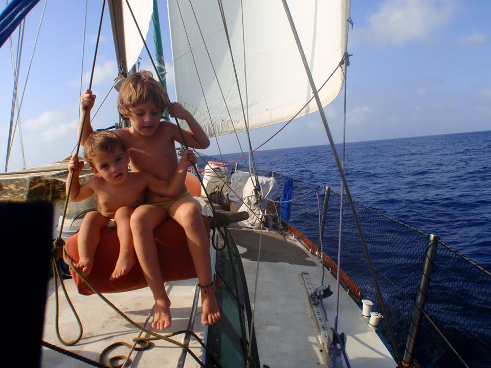 voilier et enfants
