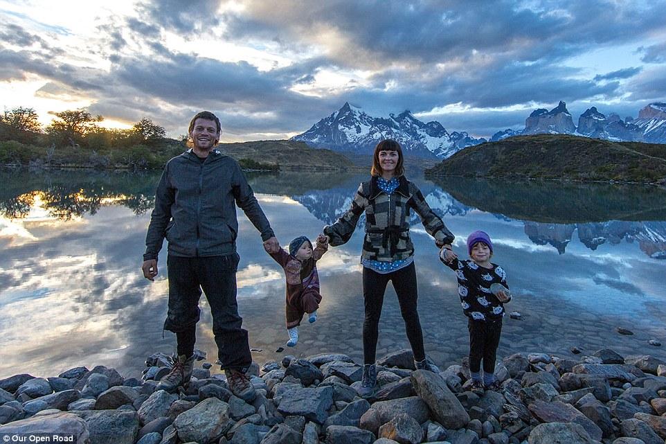 nomade avec des enfants