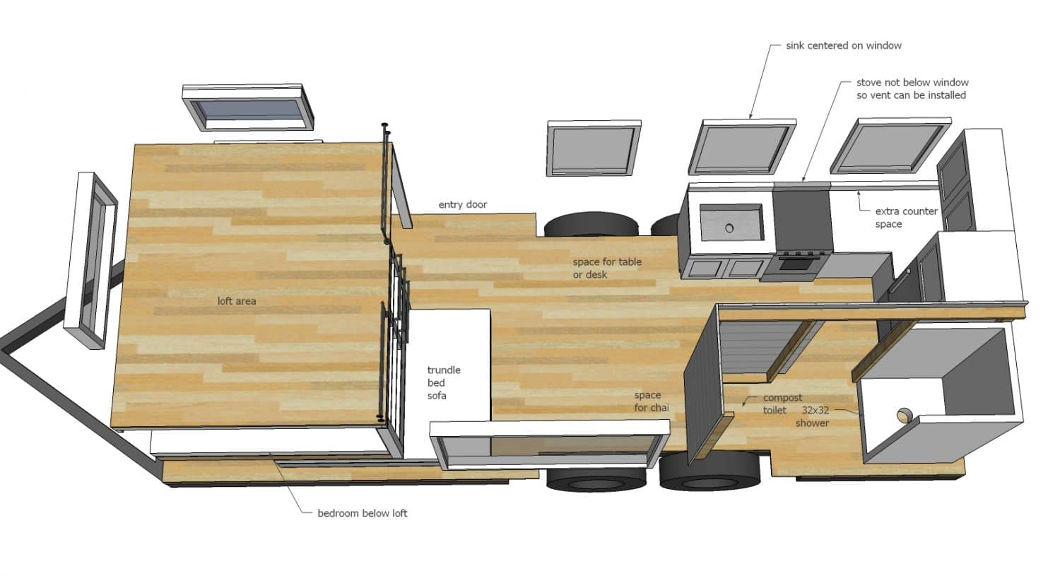 Construire sa propre tiny house plans gratuits et for Tiny home construction plans