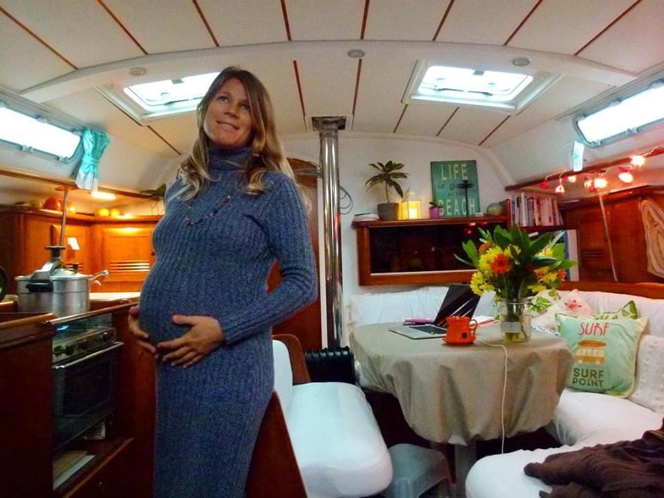 Être enceinte en voilier
