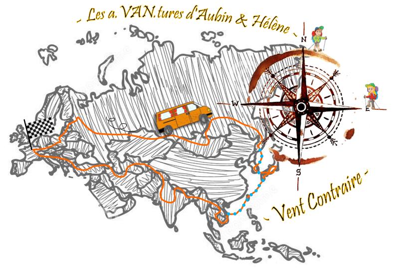 itinéraire france-japon en van