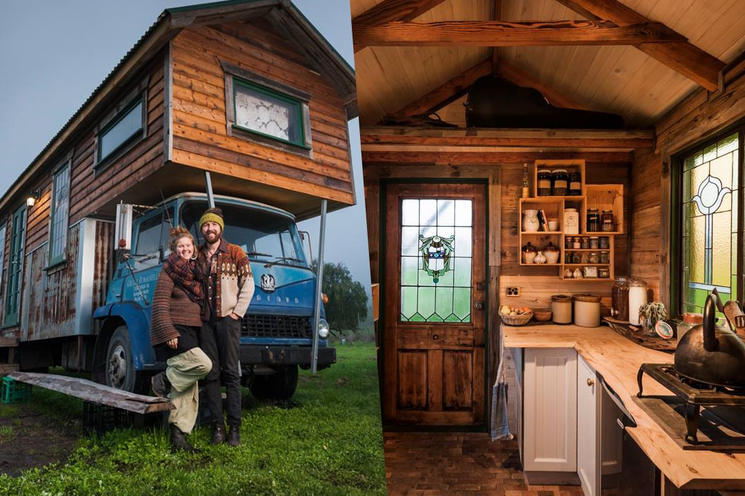 cette tiny house camion faite avec de mat riaux de r cup ration fait r ver. Black Bedroom Furniture Sets. Home Design Ideas