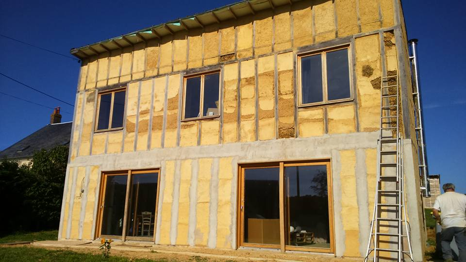 maison en paille ossature bois