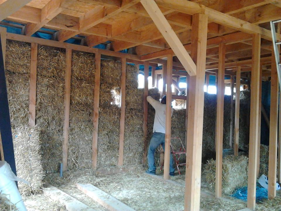 maison ossature en bois isolation paille