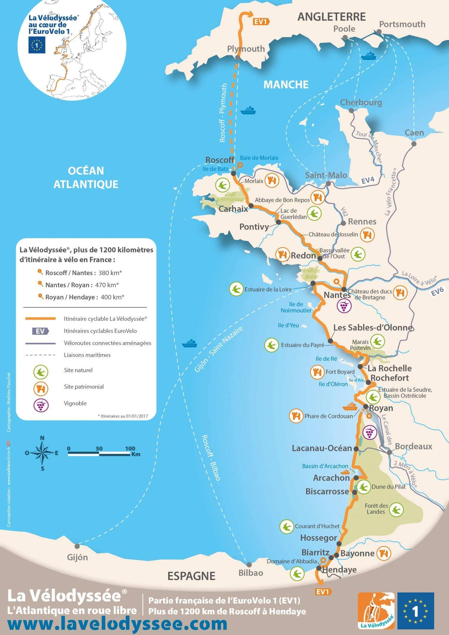 itinéraire voyage vélo France
