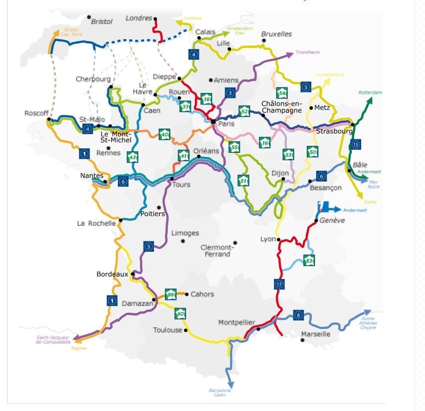 itinéraire voyager à vélo France