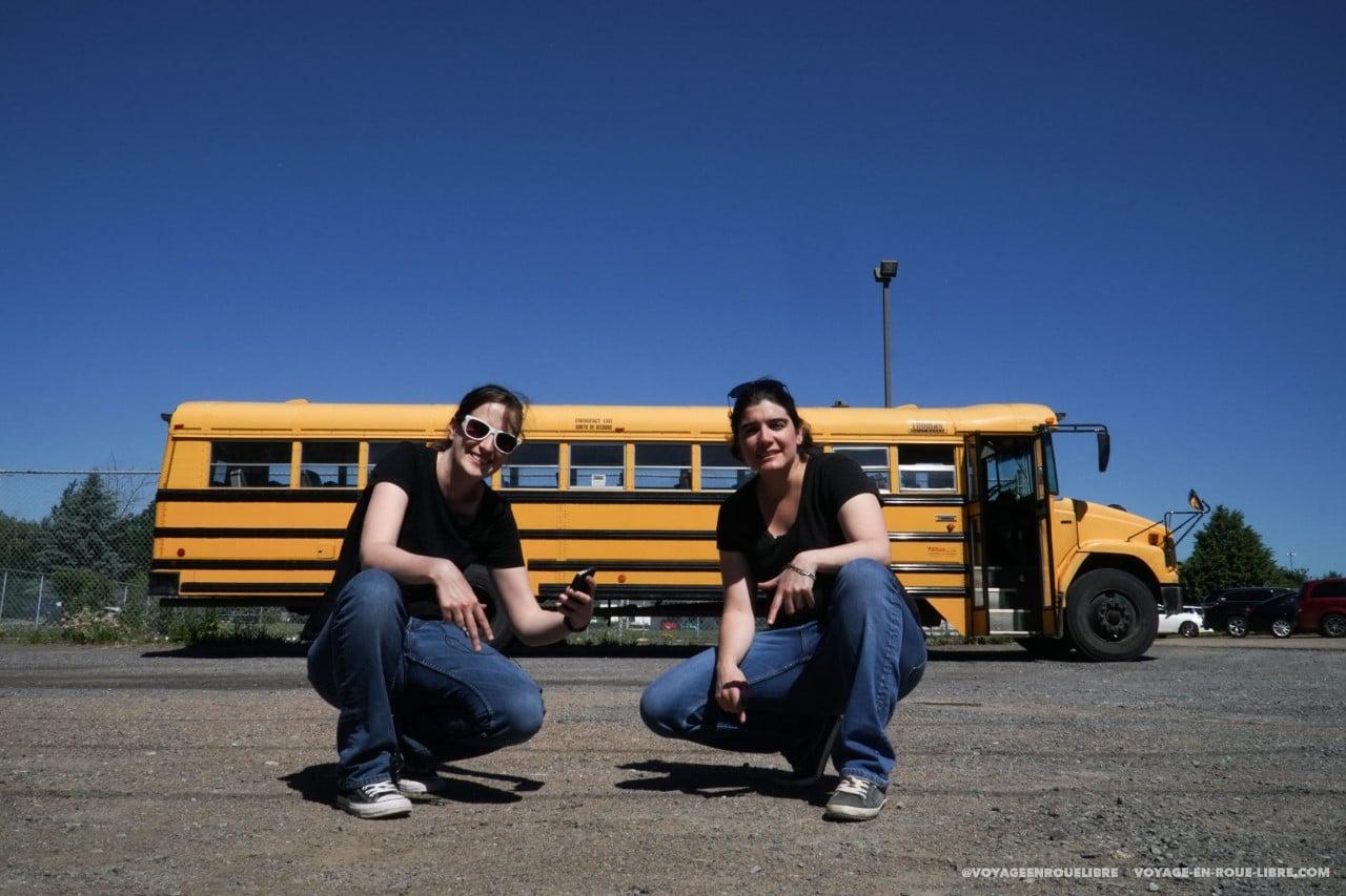 convertir bus scolaire en van
