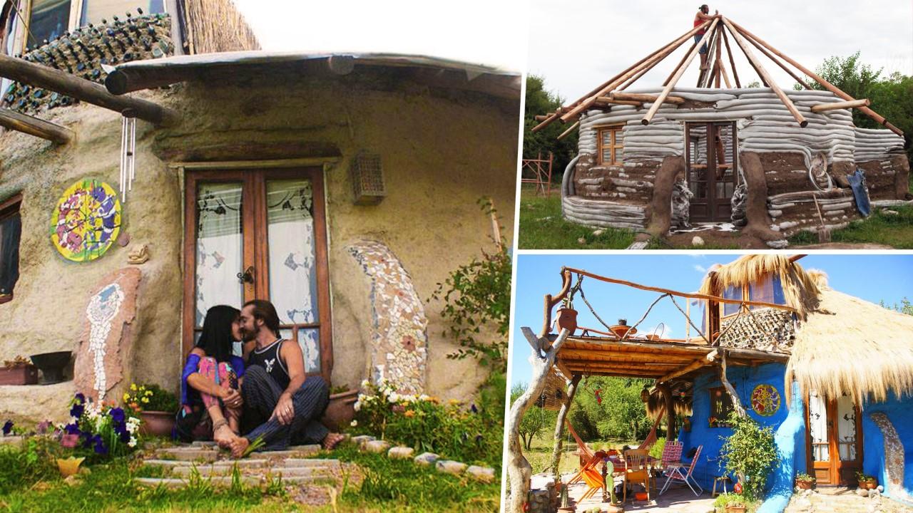 Eco-dôme : ils construisent une maison en sacs de terre pour 10.000€