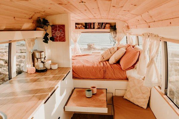 Bus aménagé intérieur